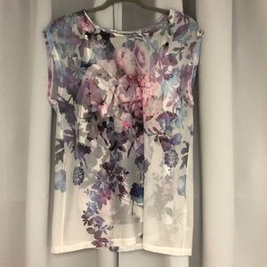 Flower blouse. Never worn